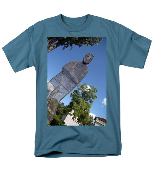 Men's T-Shirt  (Regular Fit) featuring the photograph Minujin's A Man Of Mesh by Cora Wandel