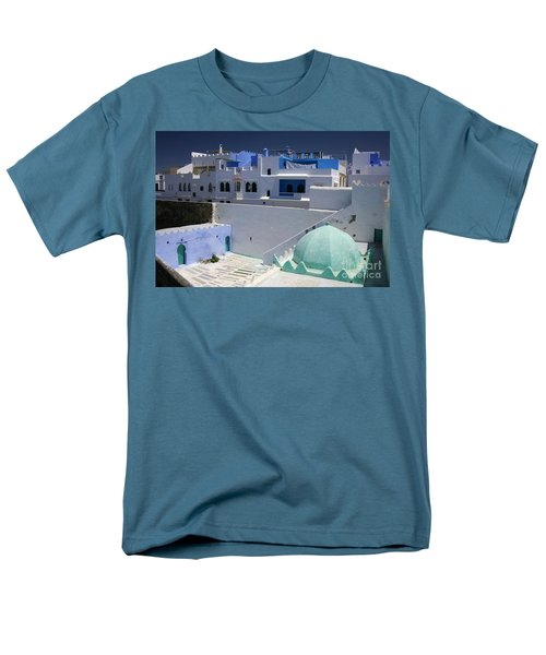 Men's T-Shirt  (Regular Fit) featuring the photograph Asilah Meaning Authentic In Arabic Fortified Town On Northwest Tip Of Atlantic Coast Of Morocco by Ralph A  Ledergerber-Photography