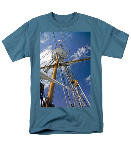 Men's T-Shirt  (Regular Fit) featuring the photograph Elizabeth II Mast Rigging by Greg Reed