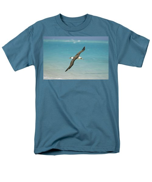 Laysan Albatross Flying Midway Atoll Men's T-Shirt  (Regular Fit) by Tui De Roy