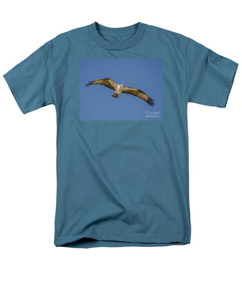 Osprey In Flight Spreading His Wings Men's T-Shirt  (Regular Fit) by Dale Powell