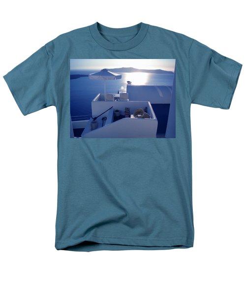 Men's T-Shirt  (Regular Fit) featuring the photograph Santorini Island Greece by Colette V Hera  Guggenheim