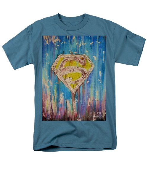 Superman's Shield Men's T-Shirt  (Regular Fit) by Justin Moore
