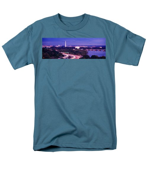 High Angle View Of A Cityscape Men's T-Shirt  (Regular Fit) by Panoramic Images