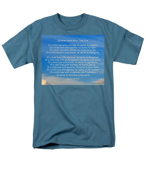 33- Children Learn What They Live Men's T-Shirt  (Regular Fit) by Joseph Keane