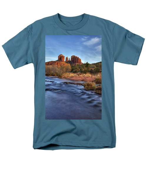 Cathedral Rocks In Sedona Men's T-Shirt  (Regular Fit) by Alan Vance Ley