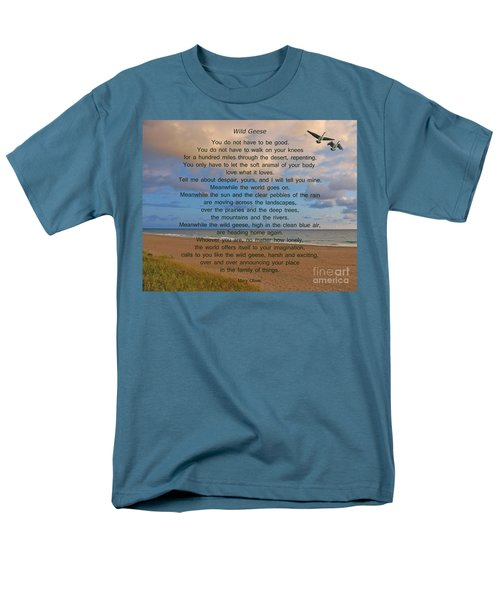 40- Wild Geese Mary Oliver Men's T-Shirt  (Regular Fit) by Joseph Keane
