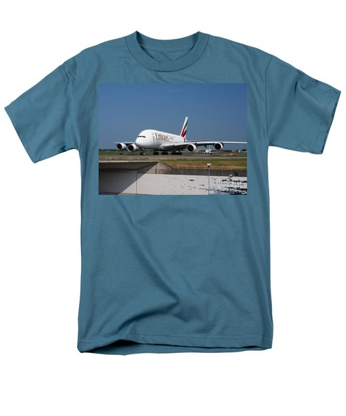 Emirates Airbus A380 Men's T-Shirt  (Regular Fit) by Paul Fearn
