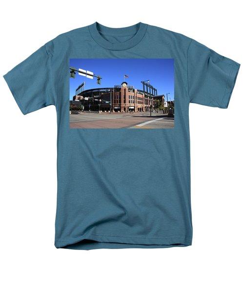Coors Field - Colorado Rockies Men's T-Shirt  (Regular Fit) by Frank Romeo