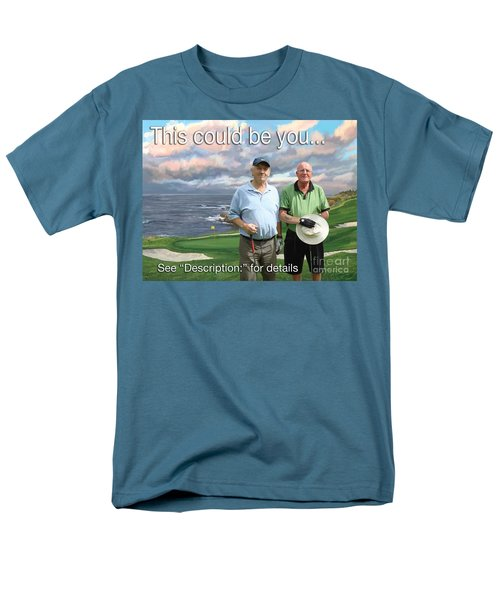 Men's T-Shirt  (Regular Fit) featuring the painting 8th Hole Pebble Beach by Tim Gilliland