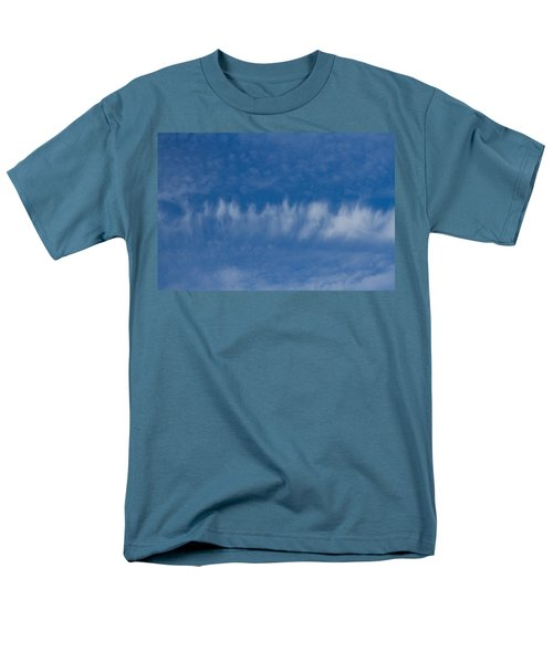 Men's T-Shirt  (Regular Fit) featuring the photograph A Batch Of Interesting Clouds In A Blue Sky by Eti Reid