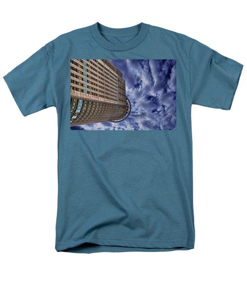 Men's T-Shirt  (Regular Fit) featuring the photograph A Drifting Skyscraper by Ron Shoshani