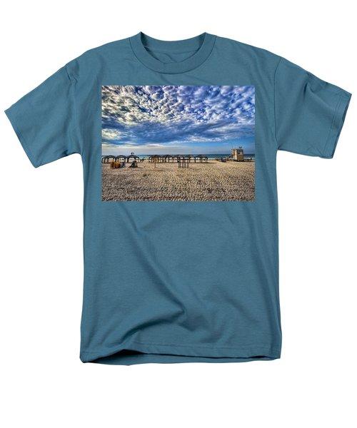 a good morning from Jerusalem beach  Men's T-Shirt  (Regular Fit) by Ron Shoshani