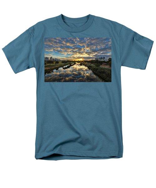 A Magical Marshmallow Sunrise  Men's T-Shirt  (Regular Fit) by Ron Shoshani