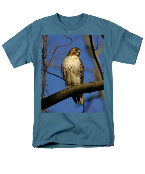 Men's T-Shirt  (Regular Fit) featuring the photograph A Red Tail Hawk by Raymond Salani III