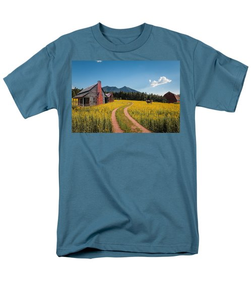 Abandoned Country Life Men's T-Shirt  (Regular Fit) by Fred Larson