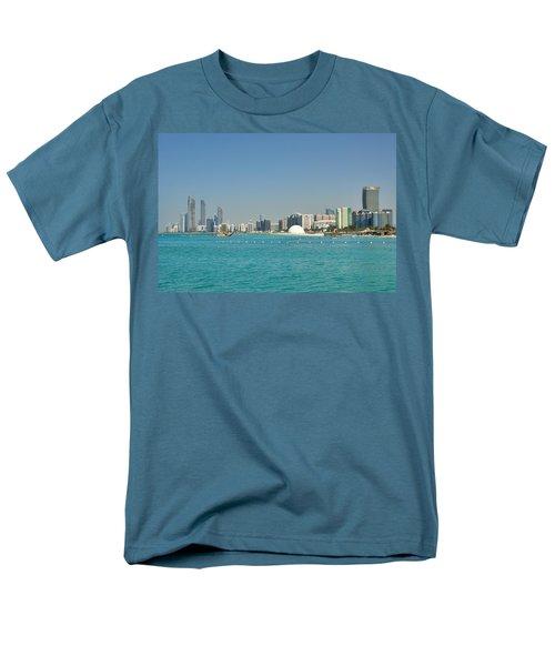 Abu Dhabi Skyline Men's T-Shirt  (Regular Fit)