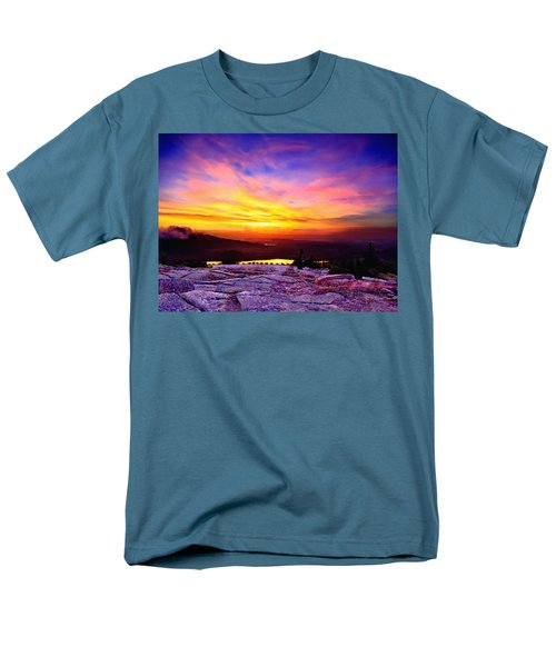 Acadia National Park Cadillac Mountain Sunrise Forsale Men's T-Shirt  (Regular Fit) by Bob and Nadine Johnston