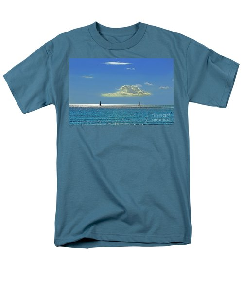 Men's T-Shirt  (Regular Fit) featuring the photograph Air Beautiful Beauty Blue Calm Cloud Cloudy Day by Paul Fearn