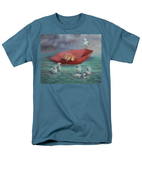 Men's T-Shirt  (Regular Fit) featuring the painting All At Sea by Cynthia House