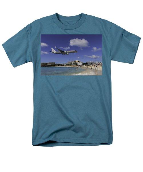 American Airlines At St. Maarten Men's T-Shirt  (Regular Fit) by David Gleeson