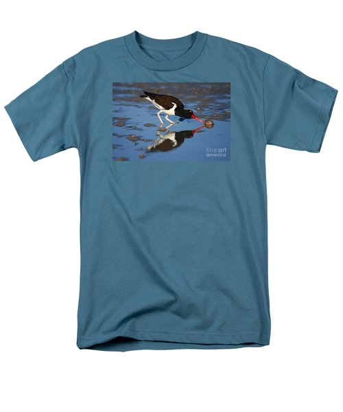 Men's T-Shirt  (Regular Fit) featuring the photograph American Oystercatcher Mirror by John F Tsumas