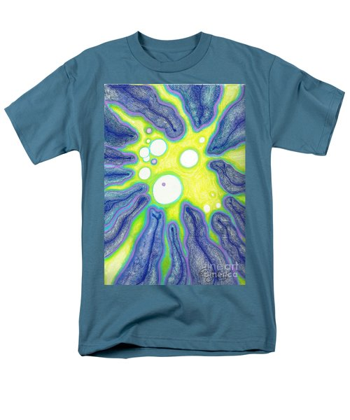 Men's T-Shirt  (Regular Fit) featuring the painting Amoeba Adolescence  by Carol Jacobs
