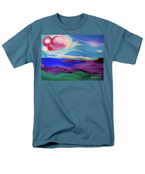 Men's T-Shirt  (Regular Fit) featuring the painting Angel Sky by First Star Art