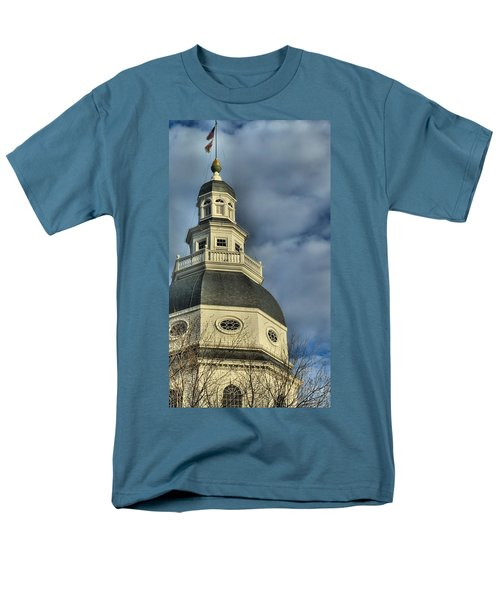 Annapolis Statehouse Men's T-Shirt  (Regular Fit) by Jennifer Wheatley Wolf