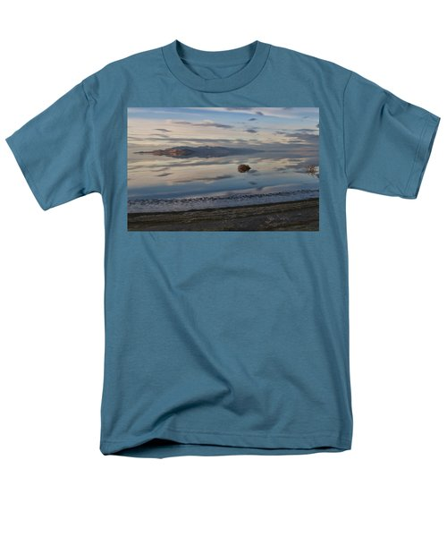 Men's T-Shirt  (Regular Fit) featuring the photograph Antelope Island - Lone Tumble Weed by Ely Arsha