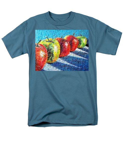 Men's T-Shirt  (Regular Fit) featuring the painting Apple A Day by Susan DeLain