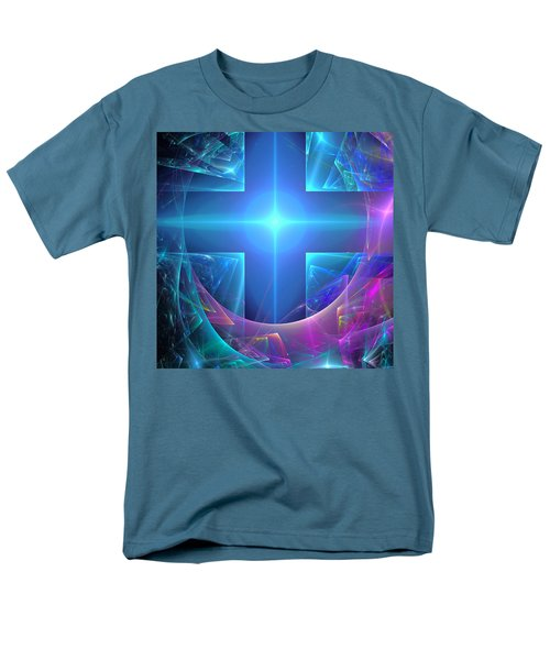 Men's T-Shirt  (Regular Fit) featuring the digital art Approaching The Portal by Svetlana Nikolova