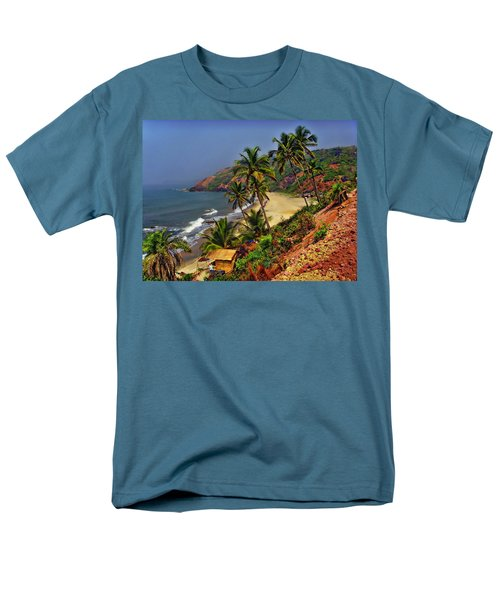 Arambol Beach India Men's T-Shirt  (Regular Fit) by Anthony Dezenzio