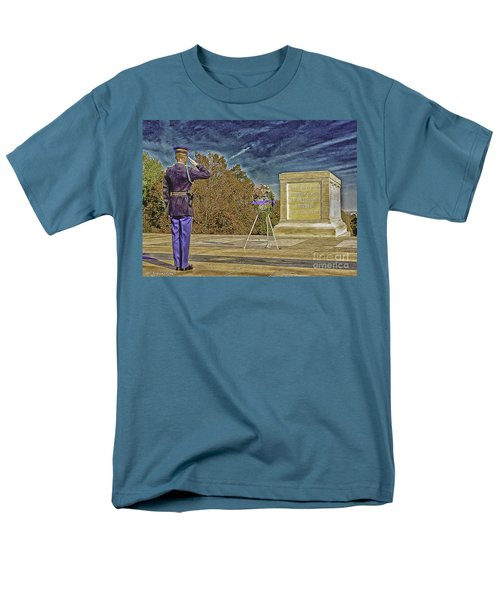 Arlington Cemetery Tomb Of The Unknowns Men's T-Shirt  (Regular Fit) by Bob and Nadine Johnston