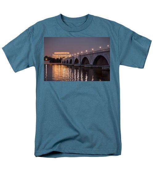 Arlington Memorial Bridge Men's T-Shirt  (Regular Fit) by Eduard Moldoveanu