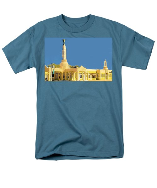 Men's T-Shirt  (Regular Fit) featuring the photograph Art Deco Gas Station by Janette Boyd