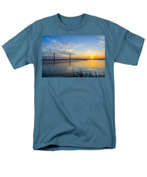 Calm Waters Over Charleston Sc Men's T-Shirt  (Regular Fit) by Dale Powell