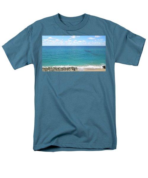 Atlantic Ocean In South Florida Men's T-Shirt  (Regular Fit) by Ron Davidson