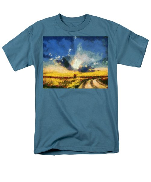 Men's T-Shirt  (Regular Fit) featuring the painting Back To Goodbye by Joe Misrasi
