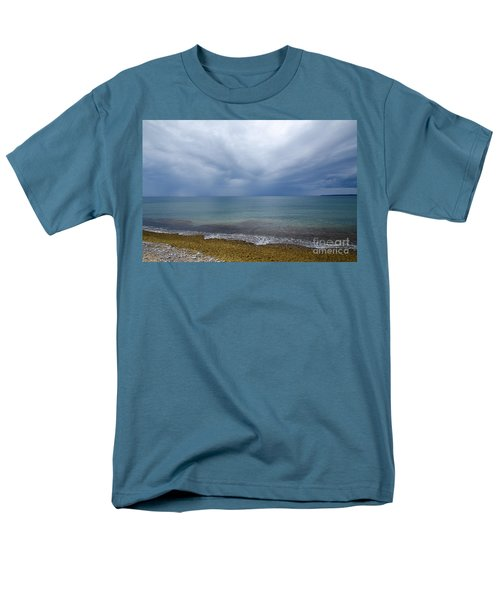 Men's T-Shirt  (Regular Fit) featuring the photograph Bad Weather Approaching At The Coast by Kennerth and Birgitta Kullman