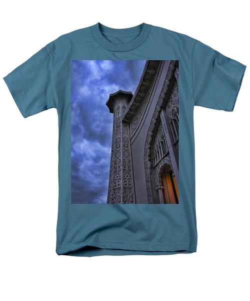 Men's T-Shirt  (Regular Fit) featuring the photograph Bahai Temple Detail At Dusk II by John Hansen