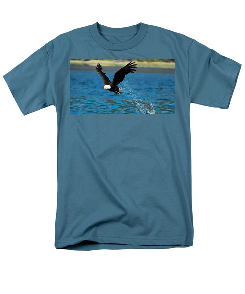 Men's T-Shirt  (Regular Fit) featuring the photograph Bald Eagle Fishing by Don Schwartz
