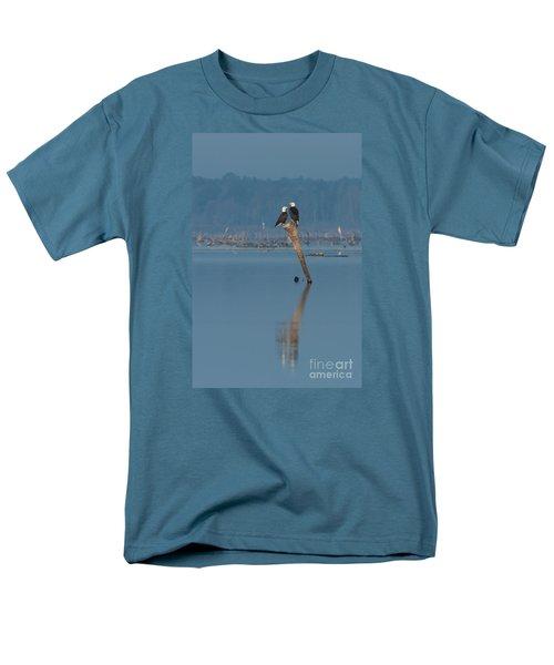 Bald Eagle Pair Men's T-Shirt  (Regular Fit) by Paul Rebmann