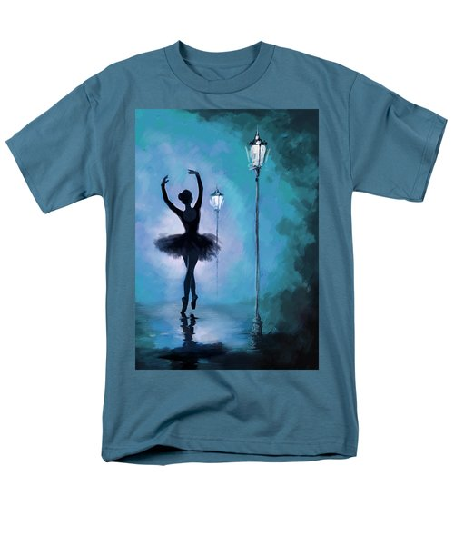 Ballet In The Night  Men's T-Shirt  (Regular Fit) by Corporate Art Task Force
