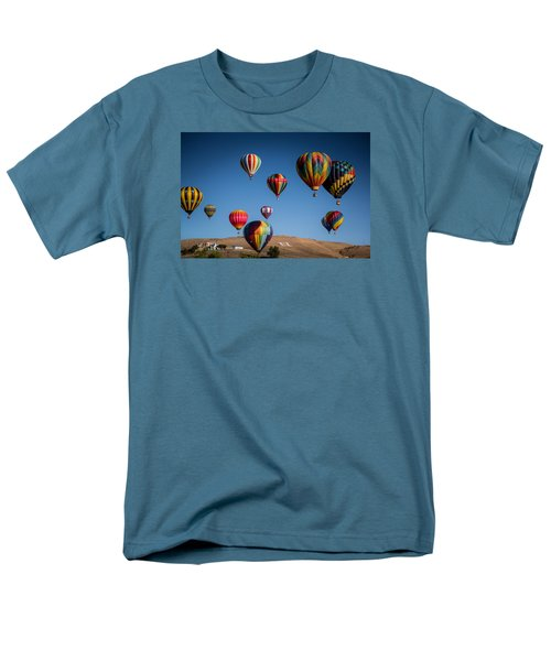 Men's T-Shirt  (Regular Fit) featuring the photograph Balloons Over Northern Nevada by Janis Knight
