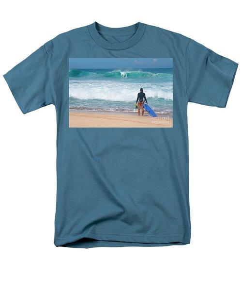 Men's T-Shirt  (Regular Fit) featuring the photograph Banzai Pipeline Aqua Dream by Aloha Art