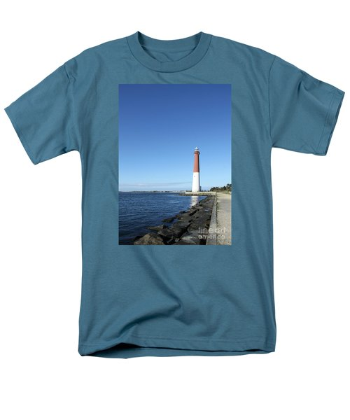 Barnegat Light - New Jersey Men's T-Shirt  (Regular Fit) by Christiane Schulze Art And Photography