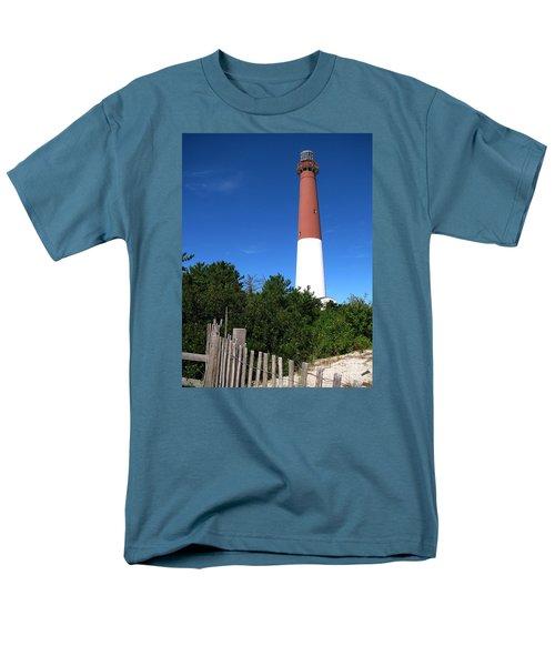 Barnegat Lighthouse Men's T-Shirt  (Regular Fit) by Colleen Kammerer