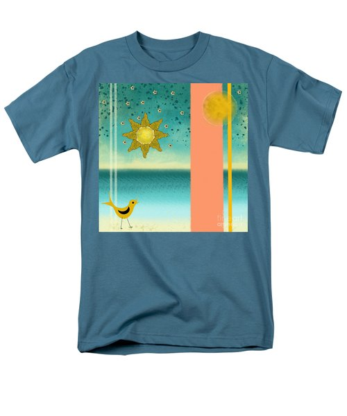 Men's T-Shirt  (Regular Fit) featuring the painting Beach Bird by Carol Jacobs