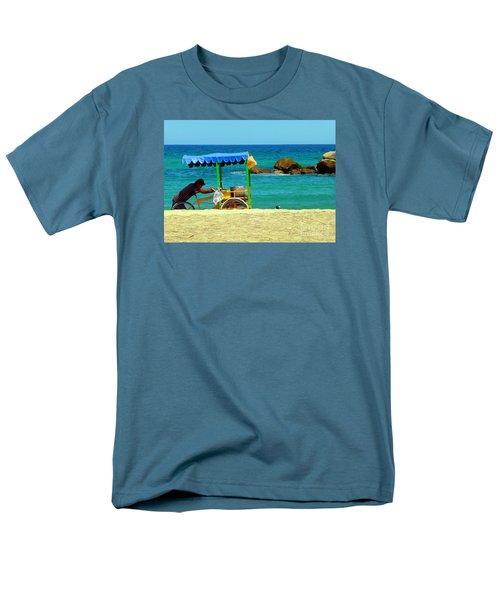 Beach Entrepreneur In San Jose Del Cabo Men's T-Shirt  (Regular Fit) by Barbie Corbett-Newmin